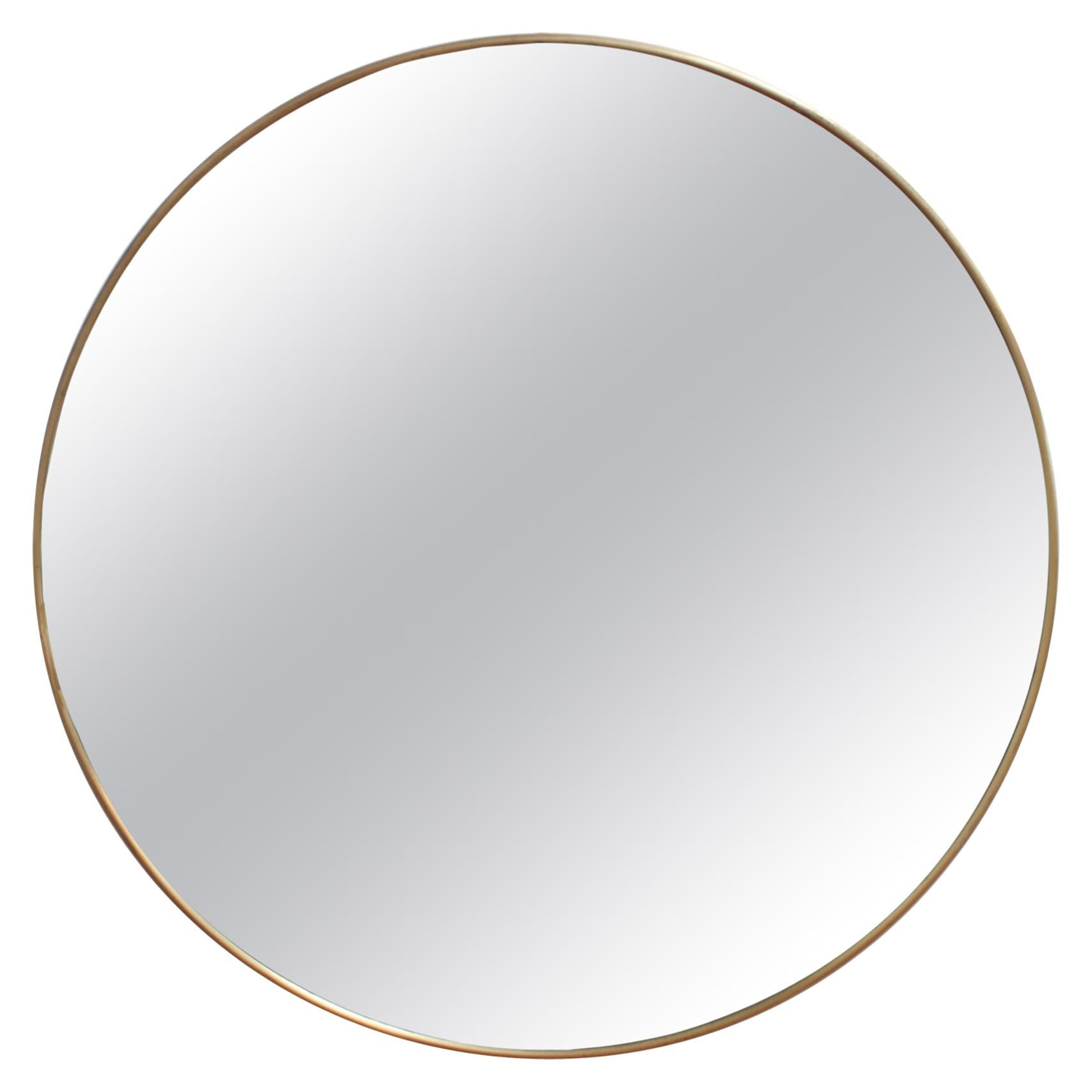 Vintage Italian Wall Mirror with Brass Frame 'circa 1950s'