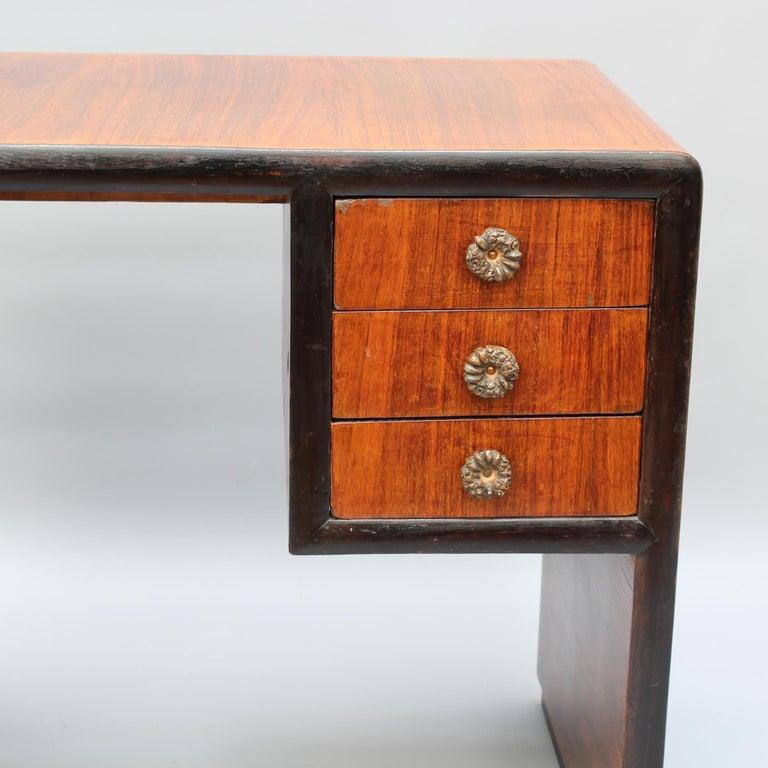 Vintage Italian Wooden Desk, circa 1970s For Sale 5