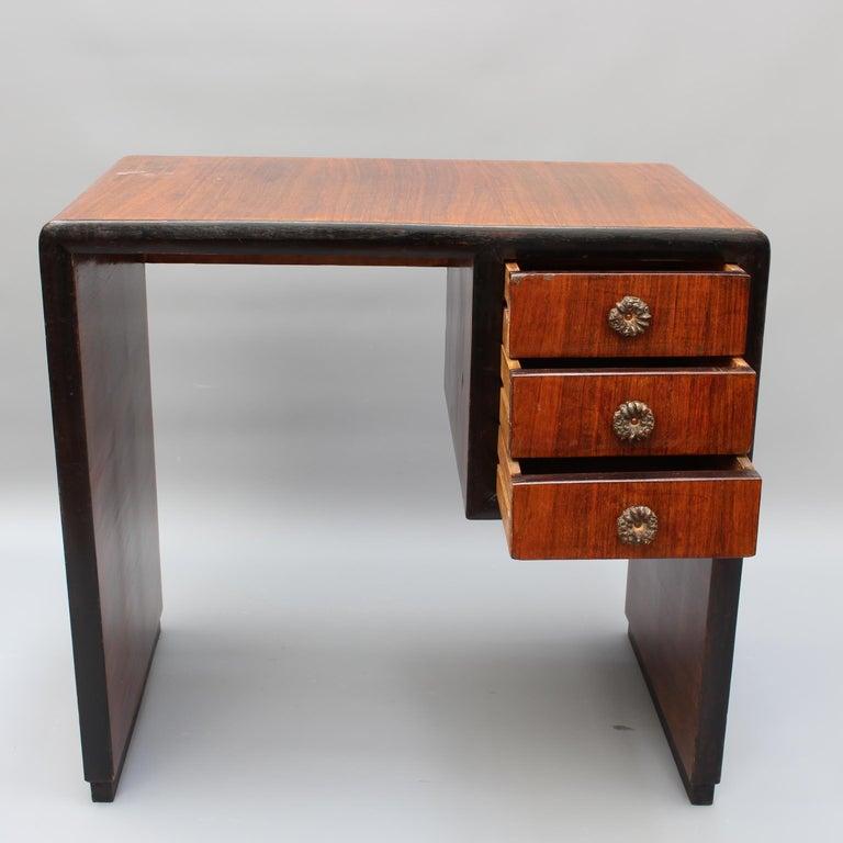 Vintage Italian Wooden Desk, circa 1970s For Sale 6