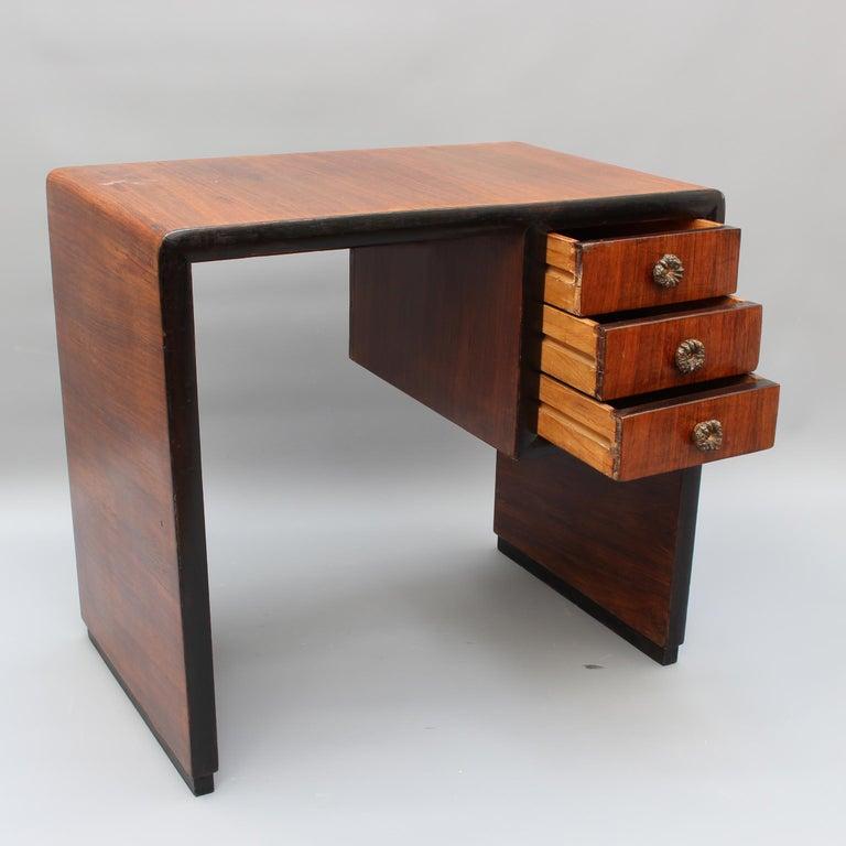 Vintage Italian Wooden Desk, circa 1970s For Sale 7