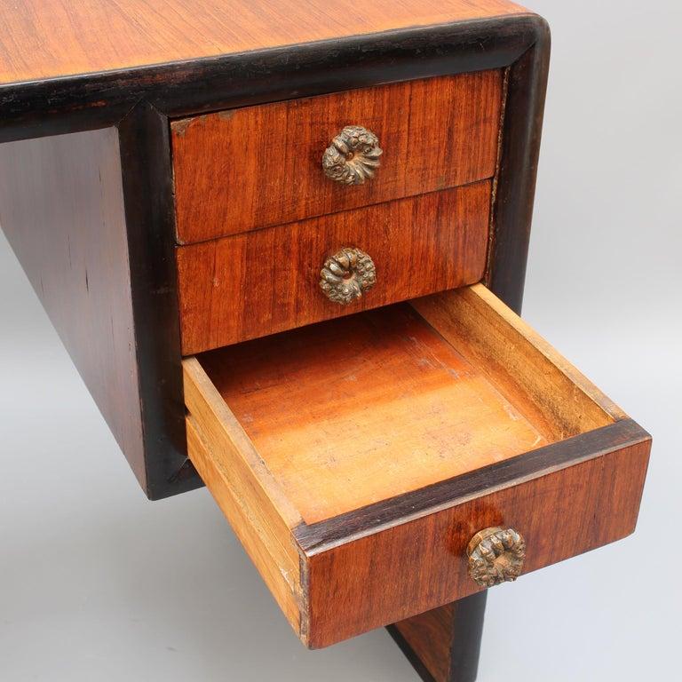 Vintage Italian Wooden Desk, circa 1970s For Sale 9