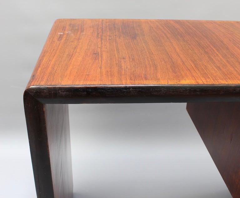 Vintage Italian Wooden Desk, circa 1970s For Sale 12