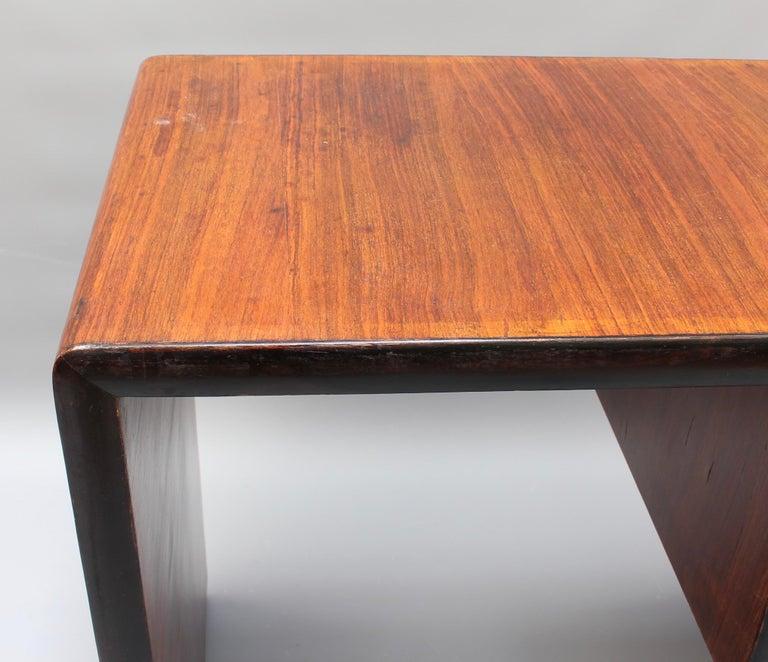 Vintage Italian Wooden Desk, circa 1970s For Sale 13
