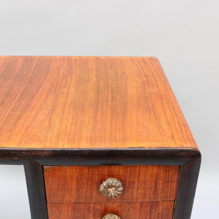 Vintage Italian Wooden Desk, circa 1970s For Sale 14