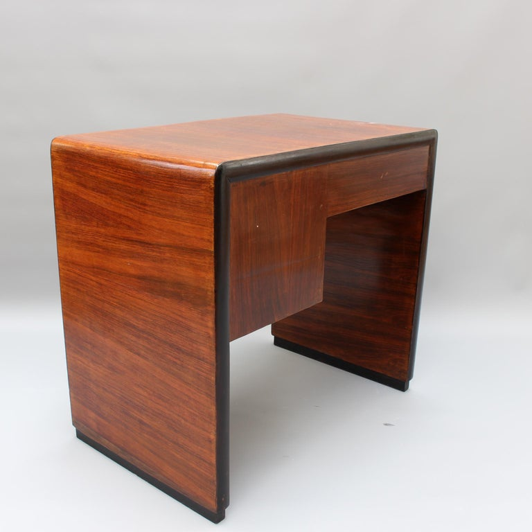 Vintage Italian Wooden Desk, circa 1970s For Sale 1