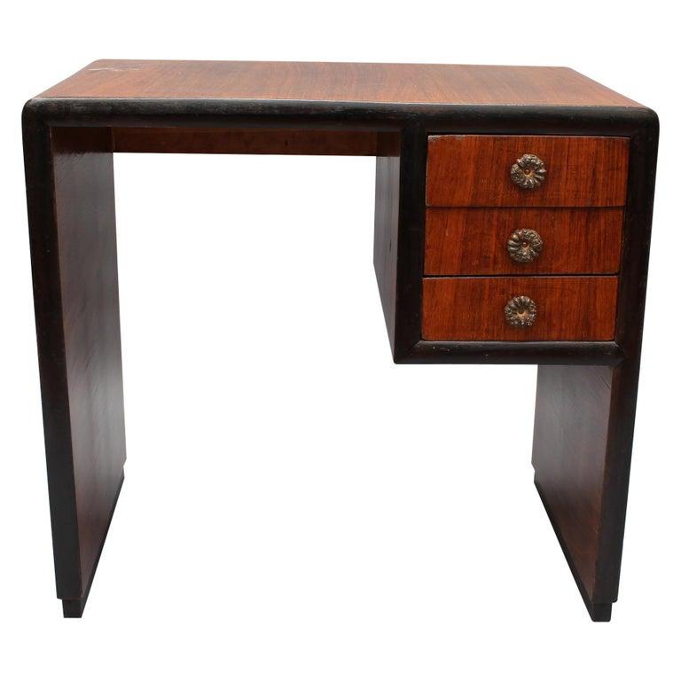 Vintage Italian Wooden Desk, circa 1970s For Sale