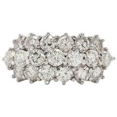 Vintage Italy 1.5 Carat Round Cut Diamond 18 Karat White Gold Ring