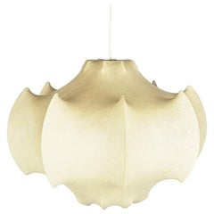 Vintage Ivory Cocoon 1960s Pendant by Castiglioni Brothers for Flos