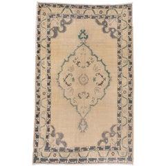 Vintage Ivory Oushak Rug