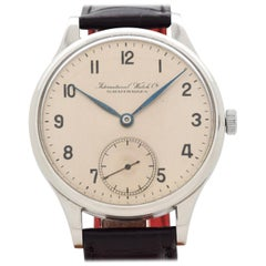 Vintage IWC Pocket Watch Conversion to Wrist Watch, 1950s