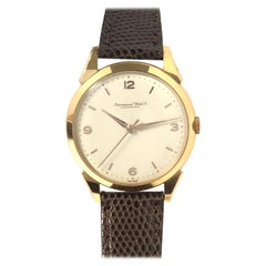 Vintage IWC Schaffhausen Yellow Gold Large Mechanical Wrist Watch