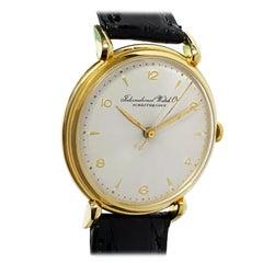 Vintage IWC Schaffhausen Yellow Gold Manual Wind Wrist Watch