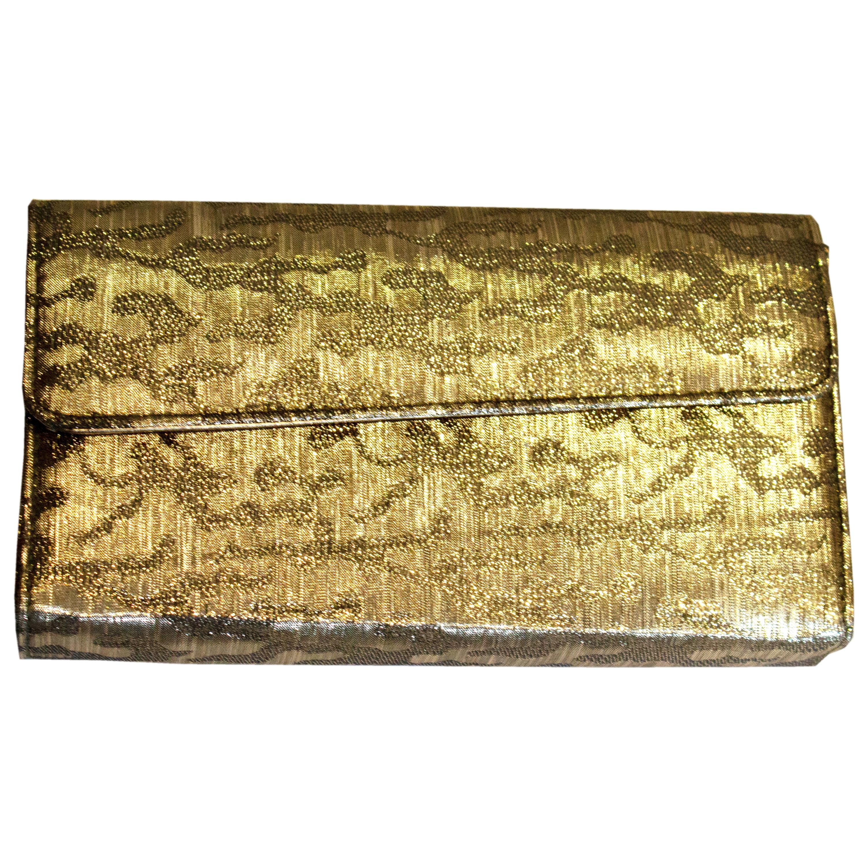 Vintage J Renee Bronze  / Gold Handbag