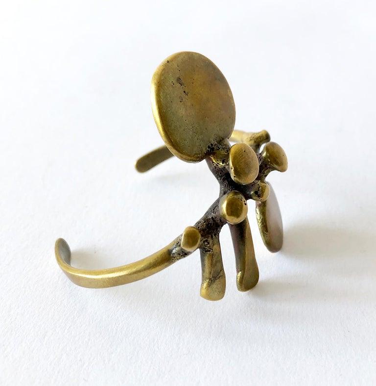 Vintage bronze bracelet created by sculptor and jeweler Jack Boyd of San Diego, California.  Bracelet measures about 6
