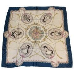Vintage Jacqumar Silk Scarf 'Queens'