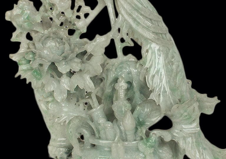 Chinese Vintage Jadeite Carving, China, 20th Century For Sale