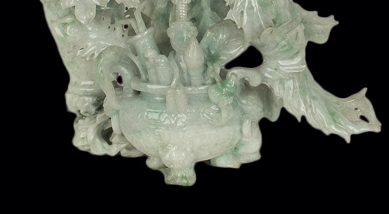Carved Vintage Jadeite Carving, China, 20th Century For Sale