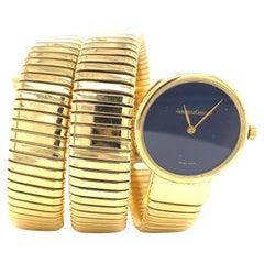 Vintage Jaeger-LeCoultre 18 Karat Gold Lapis Lazuli Watch