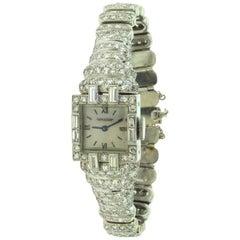 Vintage Jaeger-LeCoultre Platinum Diamond-Set Bracelet Watch