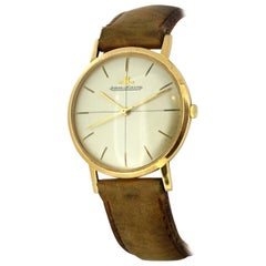 Vintage Jaeger LeCoultre Solid 18 Karat Yellow Gold Manual, circa 1960s