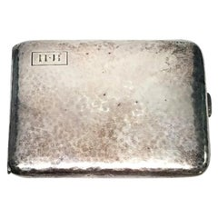 Vintage James E Blake Co Sterling Silver Hammered Cigarette Case Monogram HB