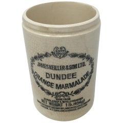 Vintage James Keller & Sons Dundee Marmalade Ironstone Jar