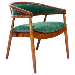 Vintage James Mont Bent Beech Armchair, Dark Green, 1960s