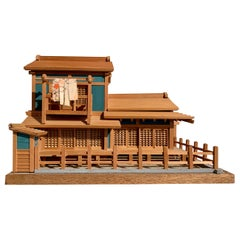 Vintage Japanese Architectural Model of a Traditional House, Mid 20th Century