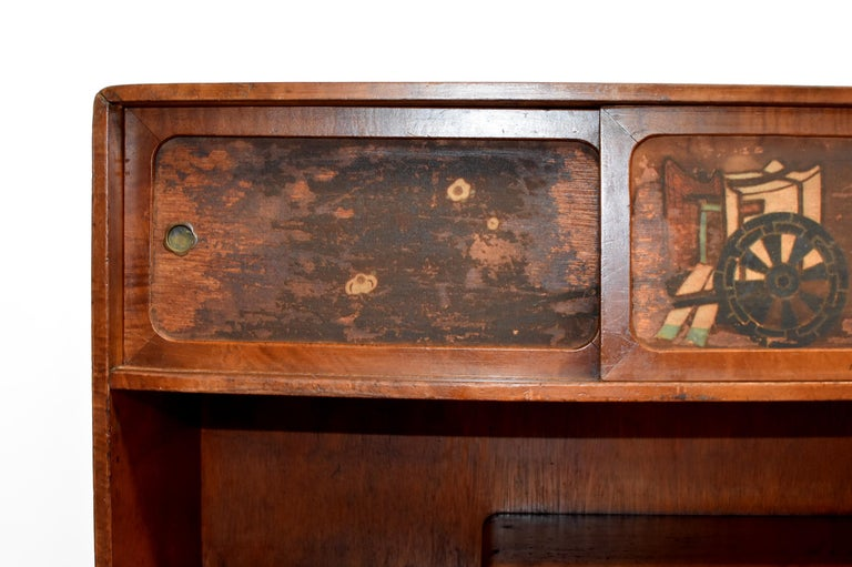 20th Century Vintage Japanese Display Shelf Cupboard For Sale