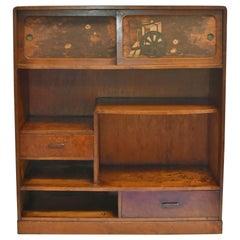 Vintage Japanese Display Shelf Cupboard