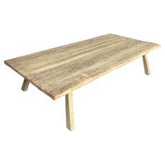 Vintage Japanese Elm Wood Coffee Table