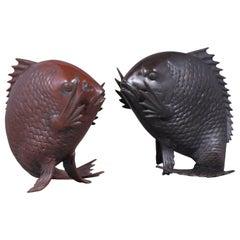 Vintage Japanese Fish Sculptures