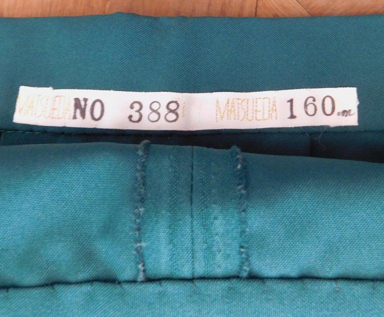 Vintage Japanese Green Hakama Skirt For Sale 1