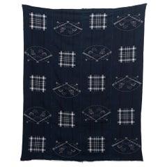 Vintage Japanese Indigo Kon Kasuri Textile