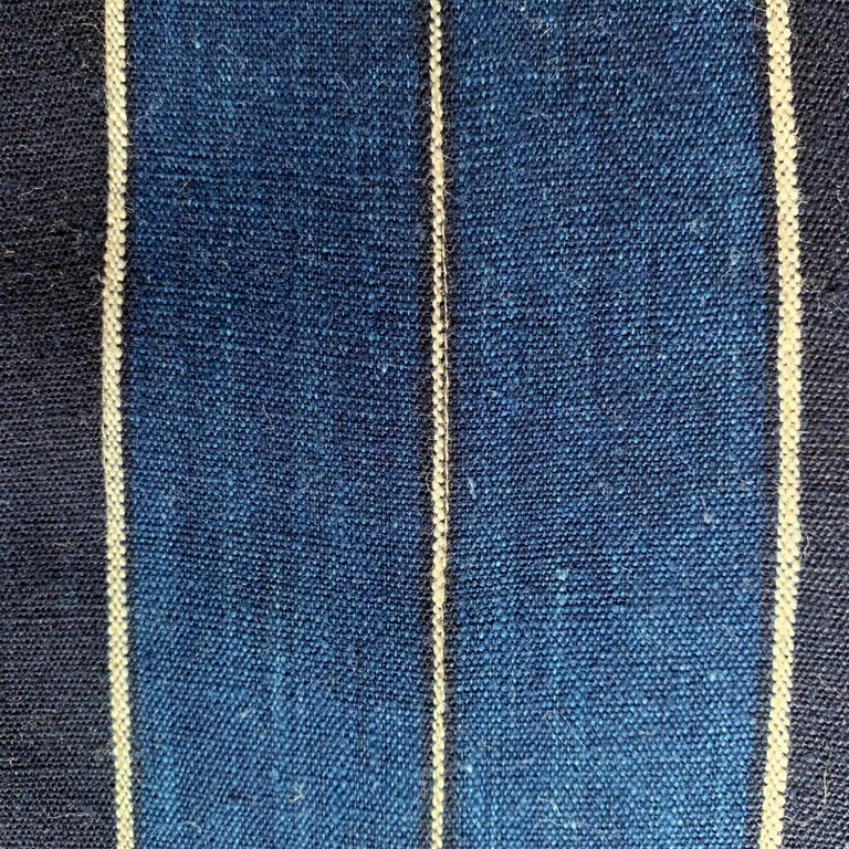 Contemporary Vintage Japanese Indigo Pillow For Sale
