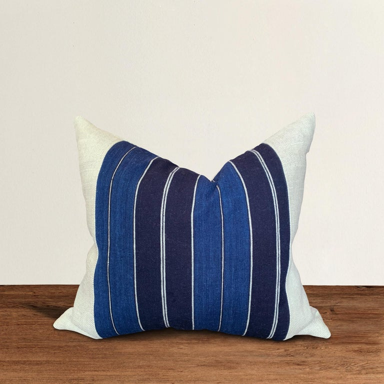 Vintage Japanese Indigo Pillow For Sale 1