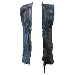 Vintage Japanese Kurume Hanten Distressed Waistcoat