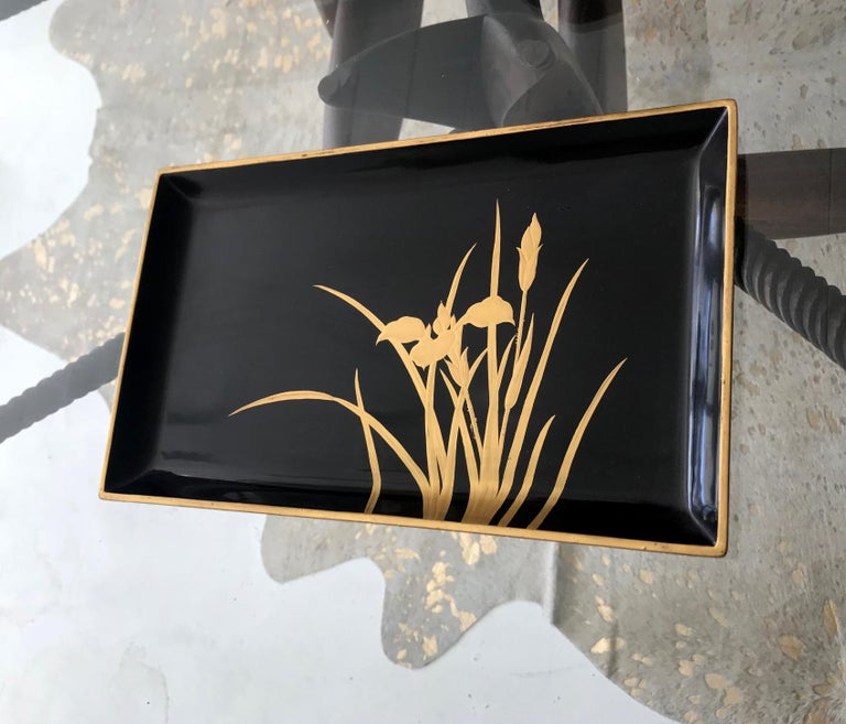 Japonisme Vintage Japanese Lacquer Tray For Sale
