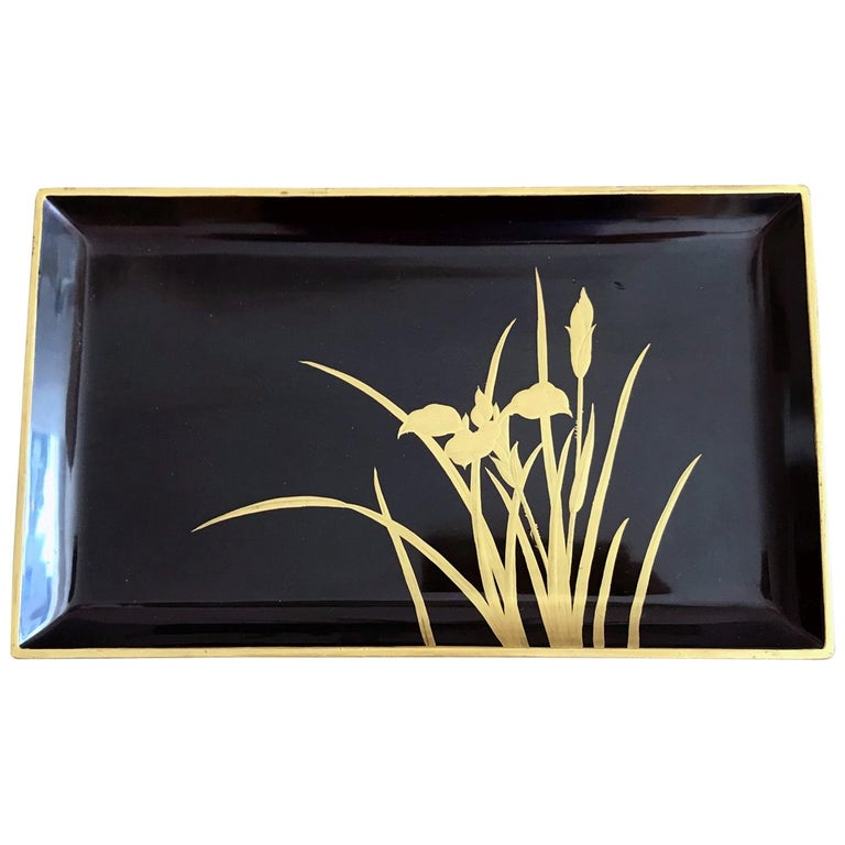 Vintage Japanese Lacquer Tray For Sale