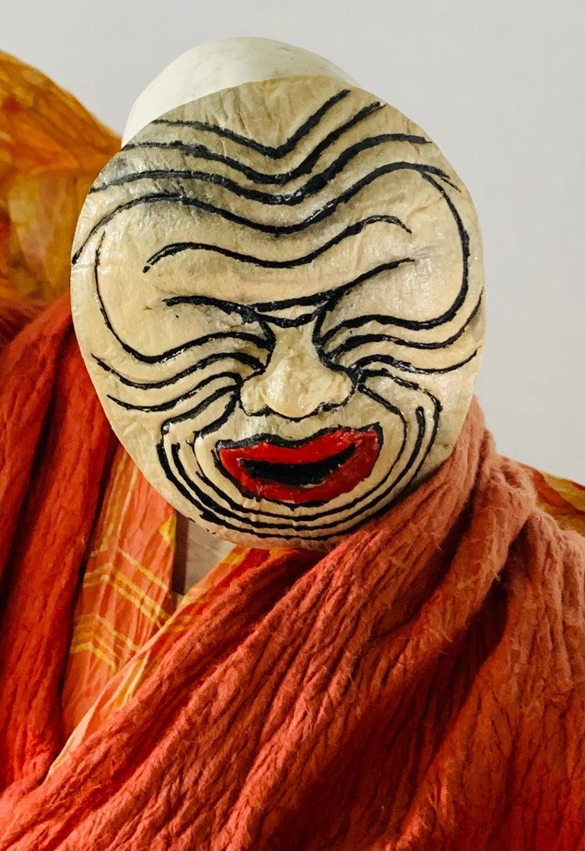 Folk Art Vintage Japanese Lord or Warrior Doll, Figurine or Statue For Sale