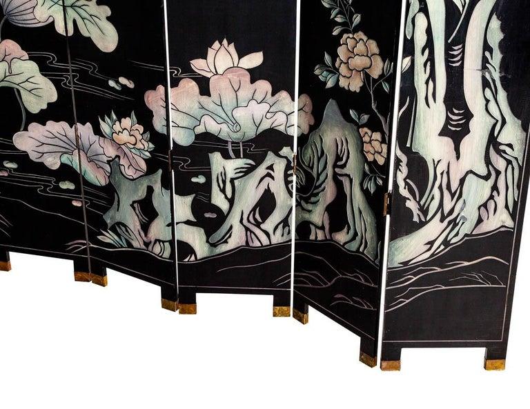 Vintage Japanese Screen Room Divider For Sale 4