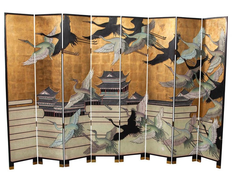 Chinoiserie Vintage Japanese Screen Room Divider For Sale