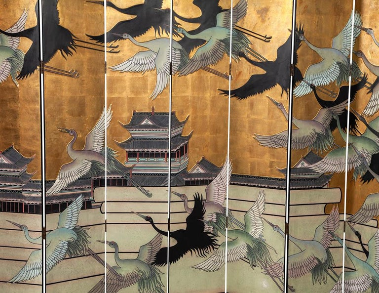 Vintage Japanese Screen Room Divider In Fair Condition For Sale In North York, ON