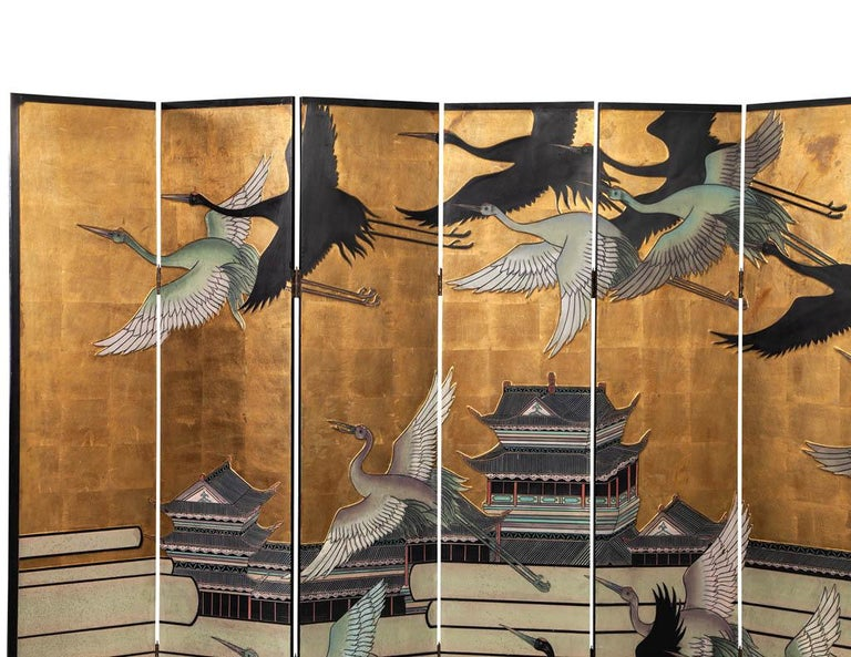 Late 20th Century Vintage Japanese Screen Room Divider For Sale