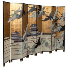 Vintage Japanese Screen Room Divider