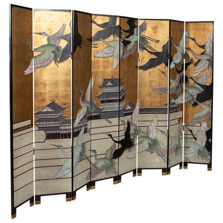 Vintage Japanese Screen Room Divider For Sale