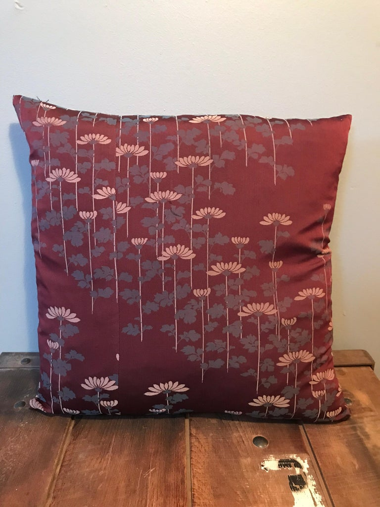 Contemporary Vintage Japanese Silk Kimono Cushions For Sale