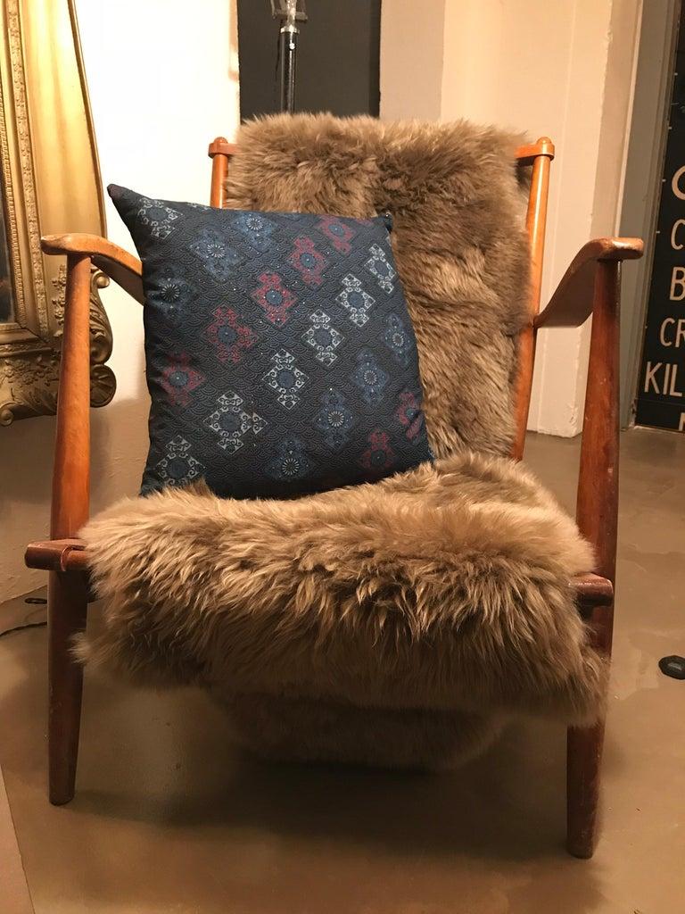 Late 20th Century Vintage Japanese Silk Kimono Cushions For Sale