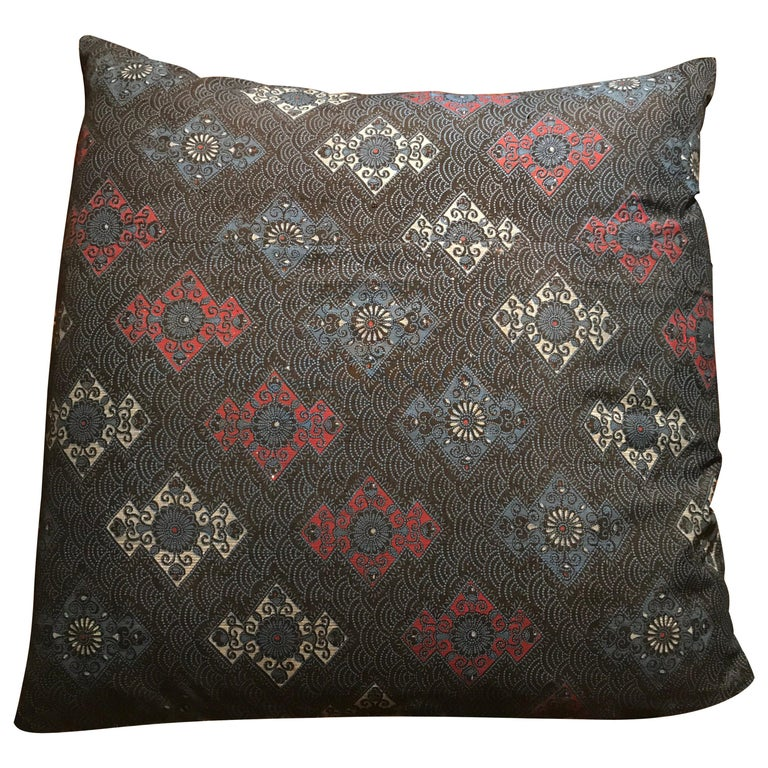 Vintage Japanese Silk Kimono Cushions For Sale