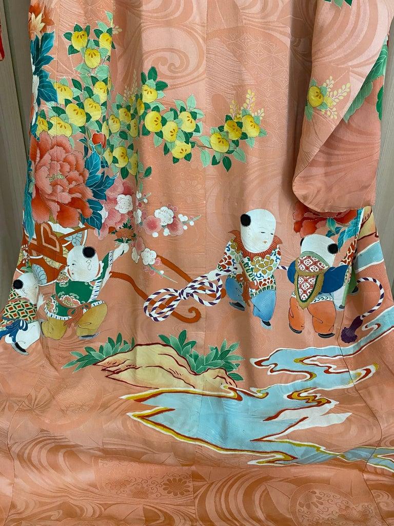 Vintage Japanese Silk Kimono  For Sale 1